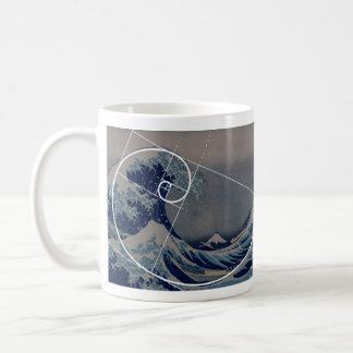 Hokusai Meets Fibonacci, Golden Ratio Coffee Mug