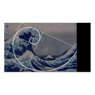 Hokusai Meets Fibonacci, Golden Ratio Double-Sided Standard Business Cards (Pack Of 100)