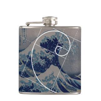 Hokusai Meets Fibonacci, Golden Ratio Flask