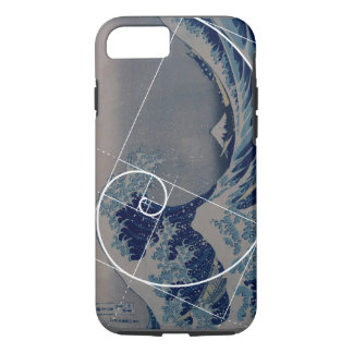 Hokusai Meets Fibonacci, Golden Ratio iPhone 8/7 Case
