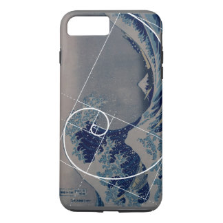 Hokusai Meets Fibonacci, Golden Ratio iPhone 8 Plus/7 Plus Case