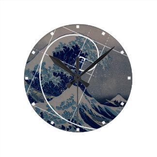 Hokusai Meets Fibonacci, Golden Ratio Round Clock