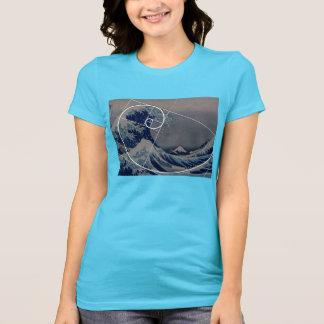 Hokusai Meets Fibonacci, Golden Ratio T Shirt