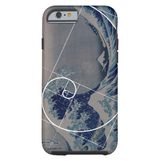 Hokusai Meets Fibonacci, Golden Ratio Tough iPhone 6 Case