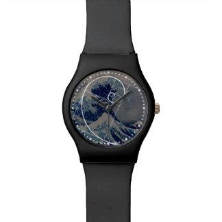 Hokusai Meets Fibonacci, Golden Ratio Wristwatch