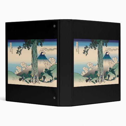 Hokusai Mishima Pass in Kai Province Vinyl Binder
