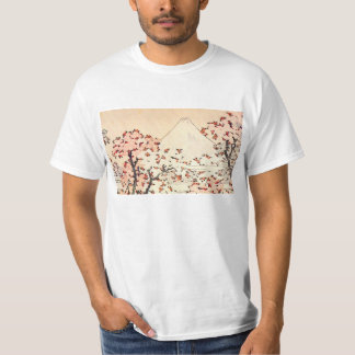 Hokusai Mount Fuji Cherry Blossoms Shirt