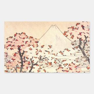 Hokusai Mount Fuji Cherry Blossoms Stickers
