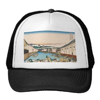 Hokusai Nihonbashi bridge in Edo Trucker Hat