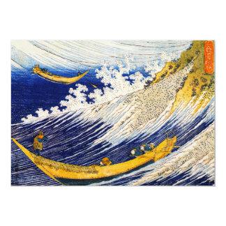 "Hokusai Ocean Waves Invitations 5"" X 7"" Invitation Card"