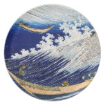 Hokusai Ocean Waves Japanese Fine Vintage Party Plates