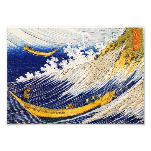 Hokusai Wave Poster Hokusai Ocean Waves Print