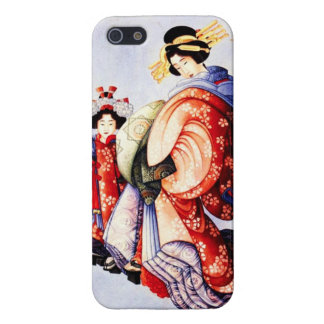 Hokusai Oiran and Kamuro iPhone 5 Case