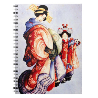 Hokusai Oiran and Kamuro Notebook
