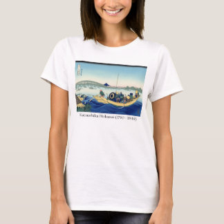Hokusai on Mt. Fuji, - Sunset across the Ryogoku T-Shirt