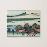 Hokusai - Ono Shindon in the Suraga province puzzl Jigsaw Puzzle