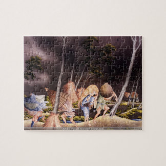 Hokusai - Peasants surprised by a violent storm pu Puzzles