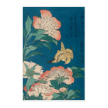 Hokusai Peonies and Canary GalleryHD Acrylic Wall Art