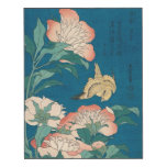 Hokusai Peonies and Canary GalleryHD Wood Wall Art