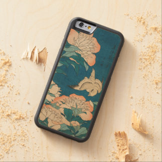 Hokusai Peonies and Canary Vintage GalleryHD Carved Maple iPhone 6 Bumper Case