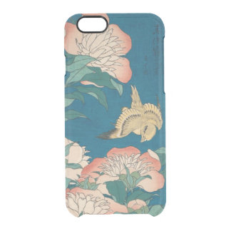 Hokusai Peonies and Canary Vintage GalleryHD Clear iPhone 6/6S Case