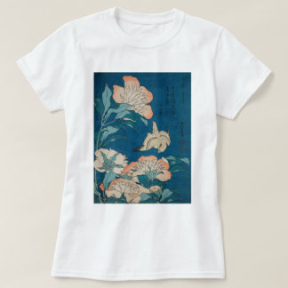 Hokusai Peonies and Canary Vintage GalleryHD T-Shirt