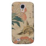 Hokusai Peony and Canary Galaxy S4 Cover