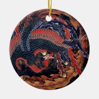 Hokusai Phoenix - ornamento Ornamento De Navidad
