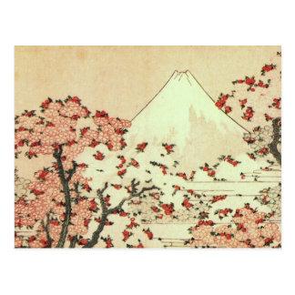 Hokusai - postal de Japón - del monte Fuji