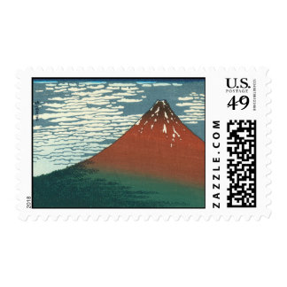 Hokusai Red Fuji Postage