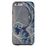 Hokusai resuelve Fibonacci, coeficiente de oro Funda Para iPhone 6 Tough