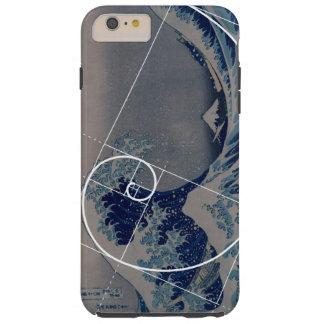 Hokusai resuelve Fibonacci, coeficiente de oro Funda Resistente iPhone 6 Plus