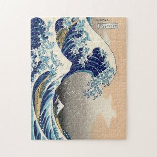 Hokusai rompecabezas de la gran onda
