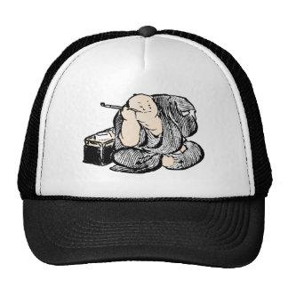 Hokusai smoking man trucker hat