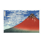 Hokusai South Wind Clear Sky Red Fuji Canvas Stretched Canvas Print