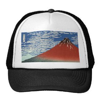 Hokusai South Wind Clear Sky Red Fuji Hat