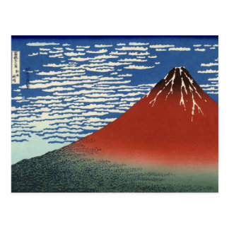 Hokusai South Wind Clear Sky Red Fuji Postcard
