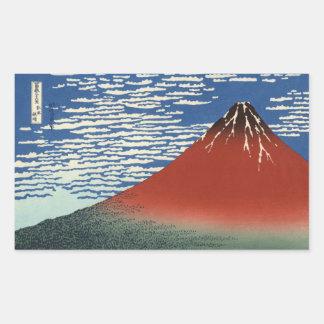 Hokusai South Wind Clear Sky Red Fuji Stickers