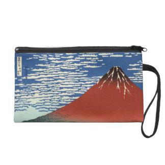 Hokusai South Wind Clear Sky Red Fuji Wristlet