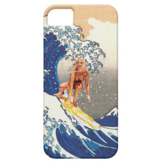 Hokusai Surfer Girl iPhone SE/5/5s Case
