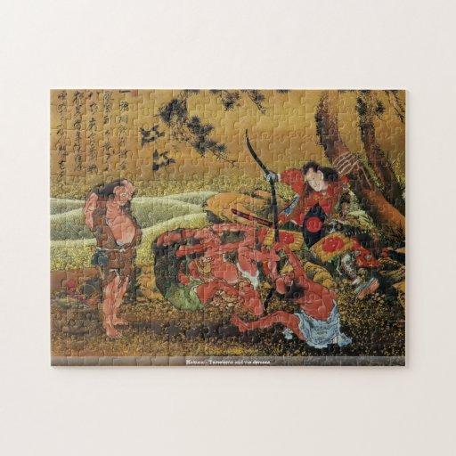 Hokusai - Tametomo and the demons puzzle