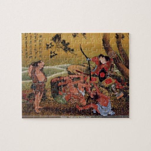 Hokusai - Tametomo on Demon island puzzle