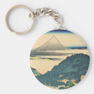 Hokusai: The Circular Pine Trees of Aoyama Basic Round Button Keychain