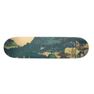 Hokusai: The Circular Pine Trees of Aoyama Skate Board Deck
