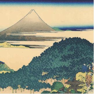 Hokusai: The Circular Pine Trees of Aoyama Standing Photo Sculpture