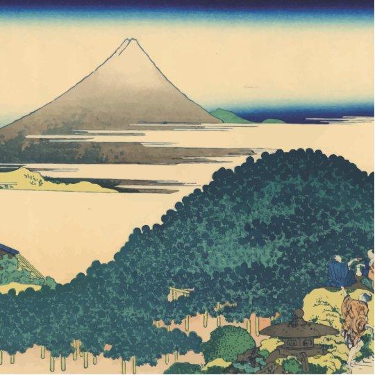 Hokusai: The Circular Pine Trees of Aoyama Statuette