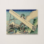 Hokusai - The Fuji from the mountains of Totomi pu Puzzles