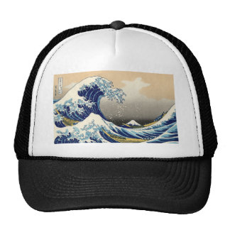 Hokusai The Great Wave Hat