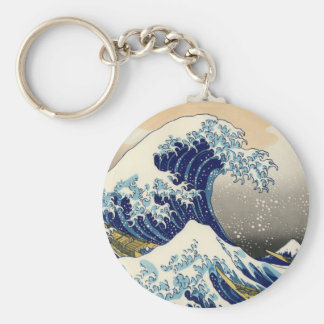 Hokusai The Great Wave Key Chain