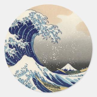 Hokusai: The great wave of Kanagawa Classic Round Sticker